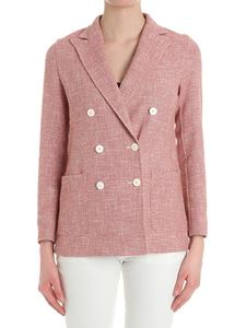 T-jacket by Tonello - Pink double-breasted tweed jacket