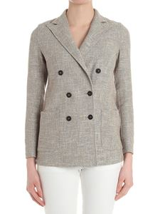 T-jacket by Tonello - Beige double-breasted tweed jacket