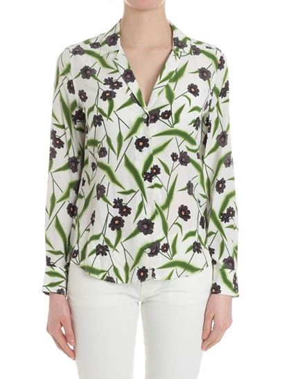 White shirt with floral pattern Equipment Looking For Pay With Visa Sale Online Top Quality For Sale o5zmIQIk