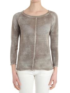 Avant Toi - Beige sweater with stitching detail