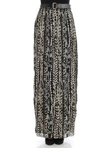 Alberta Ferretti - Pleated skirt with floral pattern