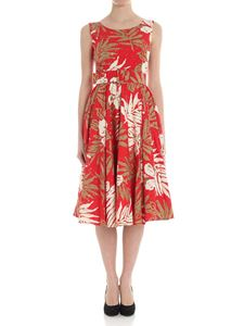 Samantha Sung - Red dress with floral pattern