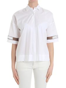 Barba - White shirt with transparent inserts