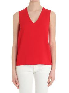 Federica Tosi - Red flared V-neck top