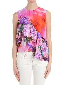 MSGM - Top with multicolor floral print