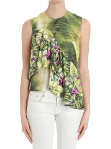MSGM - Green top with floral print