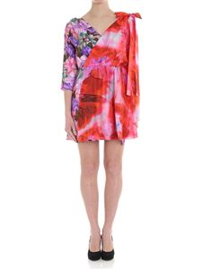 MSGM - Dress with multicolor floral pattern