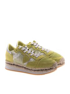 Philippe Model - Lime-colored Saint Tropez sneakers