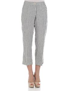 massimo alba - Black and white striped trousers