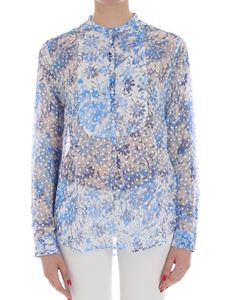 massimo alba - White blouse with floral pattern