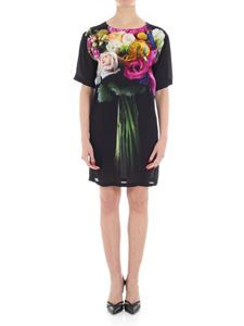 Moschino - Black dress with bouquet print