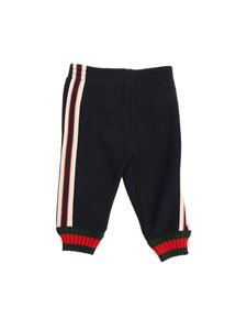 Gucci - Blue pants with logo