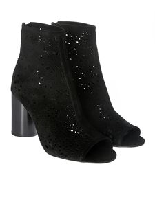 Ash - Black Flirt open-toe ankle boots