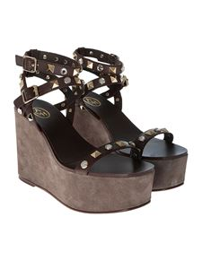 Ash - Brown Touch wedge sandals