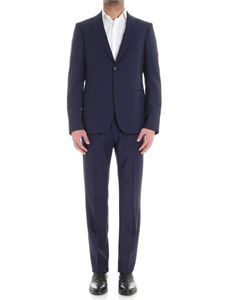 Z Zegna - Blue dress with checked pattern