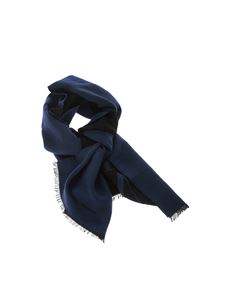 Valentino - Blue scarf with logo