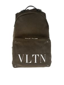 Valentino - Army green backpack with logo
