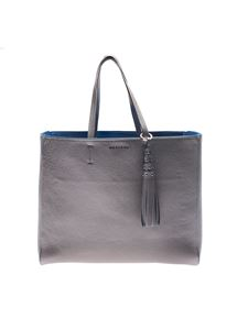 Orciani - Silver and blue shoulder bag with logo