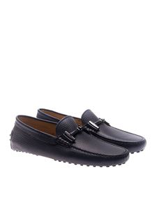 Tod's - Blue loafers with rubber sole
