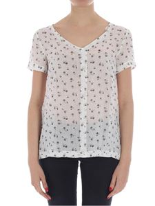 massimo alba - White top with micro floral print