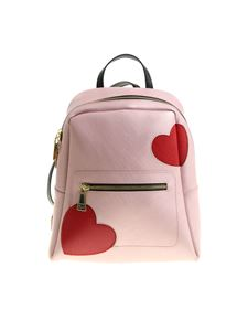 Gum Gianni Chiarini - Pink backpack with hearts