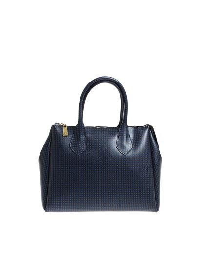 Gum Gianni Chiarini Blue handbag with glitter inserts