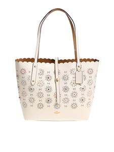 Coach - Tote bag with pierced flowers