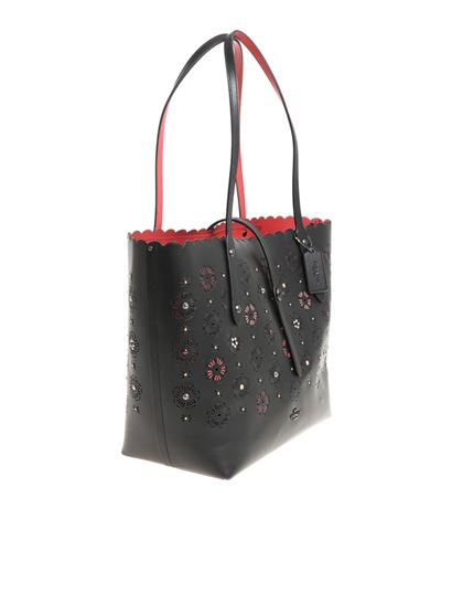 Tote bag with pierced flowers Coach kaISMsF