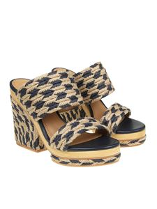 Tory Burch - Beige and black Lola sandals