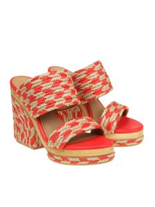 Tory Burch - Beige and orange Lola sandals