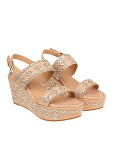 Tory Burch - Pink Blake wedge sandals