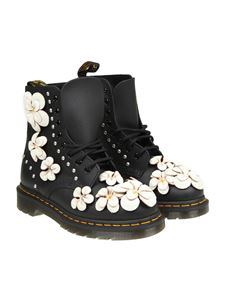 Dr. Martens - Black Pascal Flower ankle boots