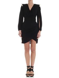Elisabetta Franchi - Black dress with jewels buttons