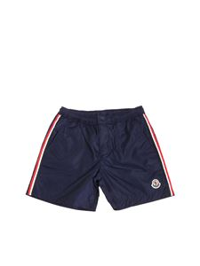 Moncler Jr - Dark blue swimsuit with logo