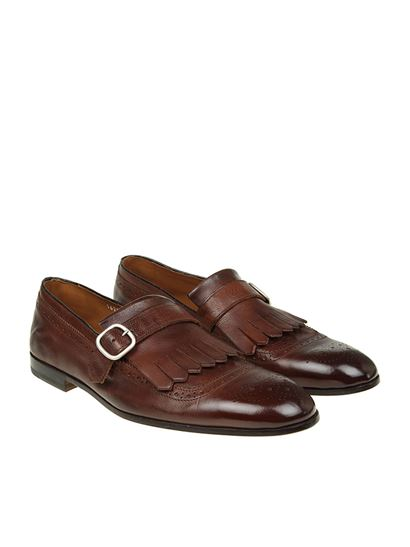 Smoky brown leather loafers Doucal's 29M7FvWdBu