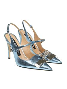 Sergio Rossi - Light-blue pointy sandals