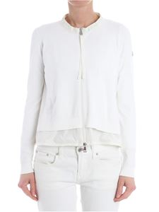 Moncler - White viscose cardigan