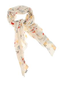 Manila Grace - Beige Foulard Magic Pen scarf