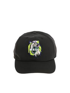 Versus Versace - Black hat with logo embroidery
