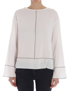 White blouse with vents Fabiana Filippi Eastbay Cheap Price Eastbay Online Outlet Supply Outlet 100% Guaranteed Free Shipping Eastbay RZj5lpRfE