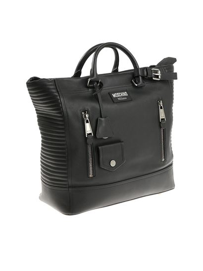 Moschino - Black leather bag