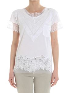 Ermanno Scervino - White t-shirt with lace