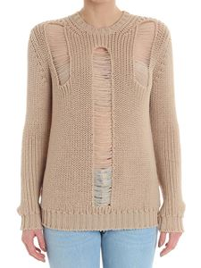 Max Mara - Beige ripped sweater