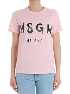 MSGM - Pink t-shirt with logo