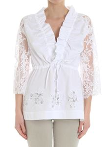 Ermanno Scervino - White top with lace inserts