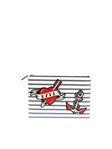 Karl Lagerfeld - Captain Karl striped clutch bag