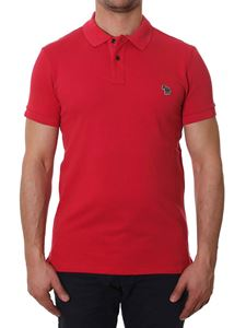 Paul Smith - Red polo with zebra embroidery