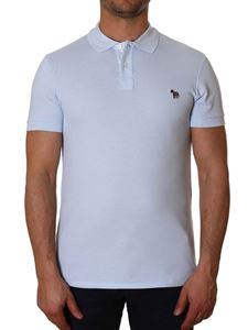 Paul Smith - Light blue polo with zebra embroidery