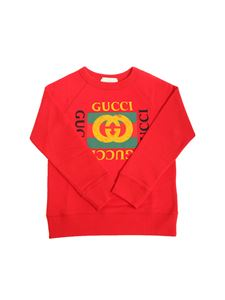 Gucci - Red sweatshirt with logo