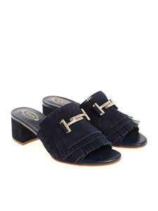 Tod's - Blue fronged sandals